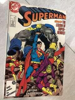 Super man vs Legion of Super Heroes comics