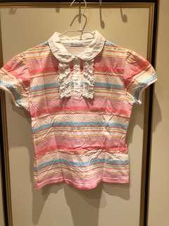🚚 范倫鐵諾粉色條紋上衣
