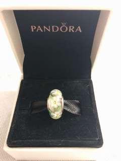 100% New Pandora Charm-Wild Flower Murano