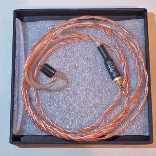 ALO audio Copper 22(2.5mm 插頭4芯高晶銅shure線)