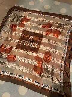 Fendi 90cmx90cm scarf