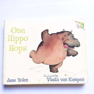 One Hippo Hops - Children's Number Boardbook.