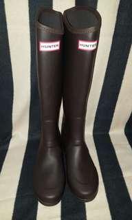 Auth Hunter Brown Tall Rain Boots