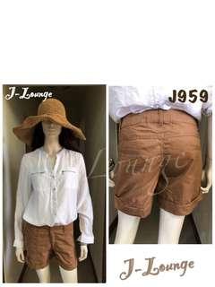 🚚 J959全新美國NETWORK純棉高腰5分褲短褲春吶休閒海邊比基尼渡假pants J-Lounge