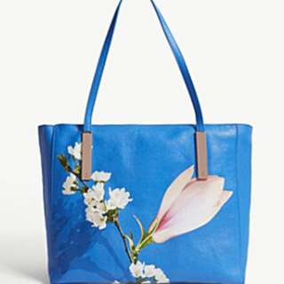 Ted Baker Harmony Large floral leather tote