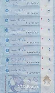 Malaysia MBI Million No UNC