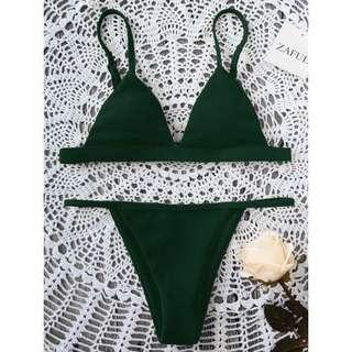 Zaful Dark Green Bikini