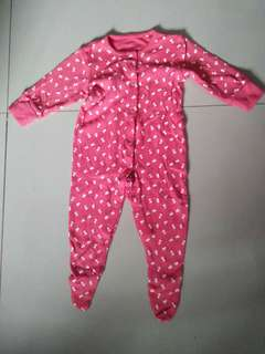 Babysuit pink cherry design