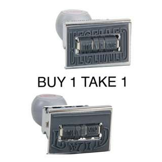 "Buy 1 Take 1: Date Stamp ""Paid"" & ""Receive"""