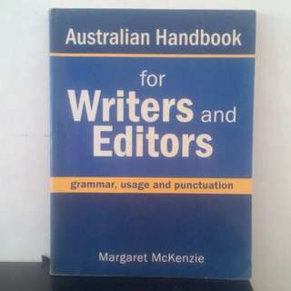 Buku Australian Handbook For Writers and Editors Grammar by. Margaret Mckenzie