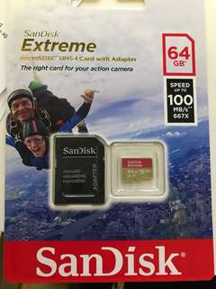Sandisk extreme 64gb Micro SD Card