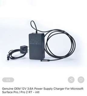 Power supply charger  for Microsoft Surface Pro / Pro 2RT