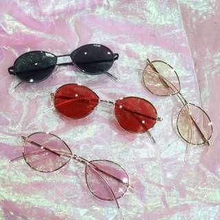 橢圓特殊框造型中性墨鏡
