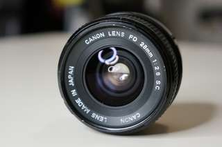 Canon FD 28mm F2.8 SC Manual Focus Lens
