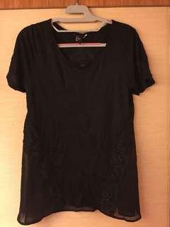 Black TOP maternity H&M