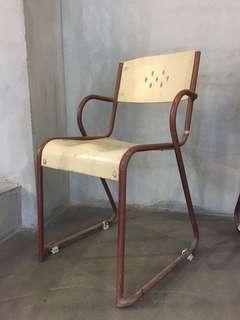 老件 椅子 鐵椅