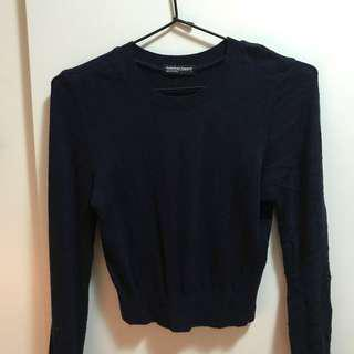 American Apparel Navy Cropped Sweater