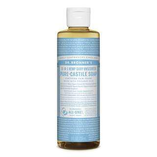 Dr. Bronner's Unscented Castile Soap (237ml)