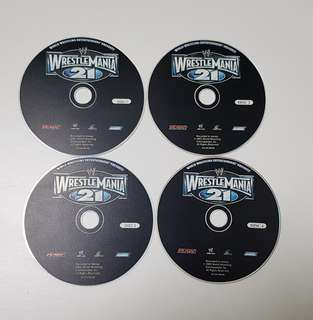 Wrestle Mania 21, RAW. Disc 1 to 4 (Wrestling)