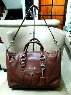 Authentic Coach Mini -  Ashley Leather Satchel