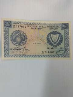 Cyprus 250 mils 1976 issue