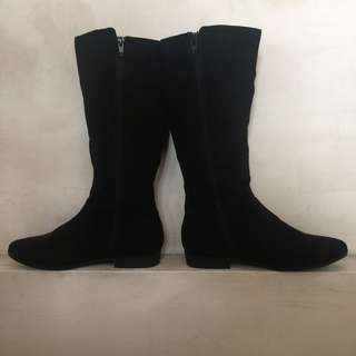 SALE!! Black Velvet Boots!!