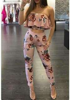 Floral Tube Terno