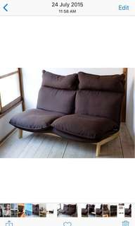 MUJI High Back Reclining Sofa - 2 Seater