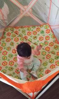 秒收遊戲床+厚地墊+冰絲墊+100顆遊戲球+收納袋