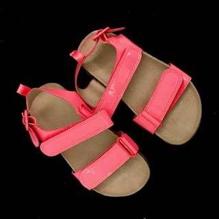 H&M Neon Orange Strap Sandals  Size 9 for Girls