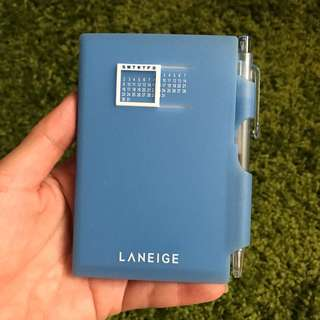 Laneige mini notebook with pen