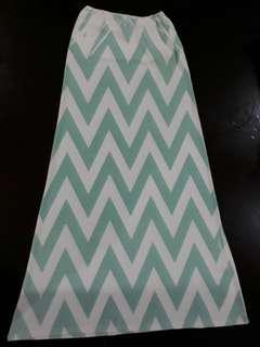 Chevron Zigzag Print Maxi skirt