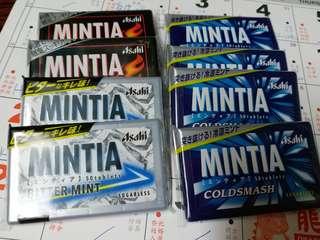 日本直送 asahi mintia  清涼糖 50粒 各款