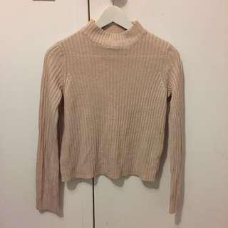 Blush pink knit jumper