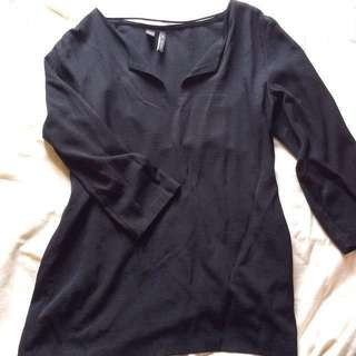 [Mango] Black Tunic Top.