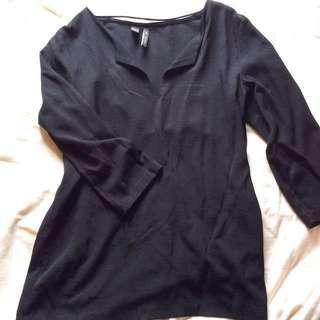 [Mango] Black Tunic Top.