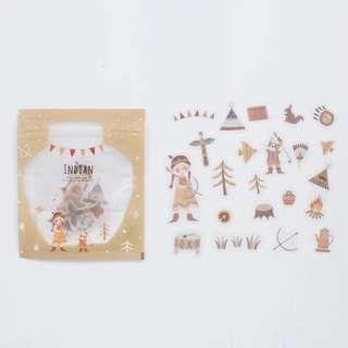 [PO] Red Indian theme girls sticker pack