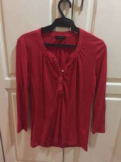 Red long sleeves