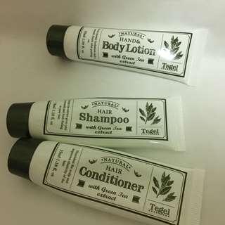 🚚 韓國綠茶素旅行組 洗髮 護髮 身體乳液shampoo hair body lotion