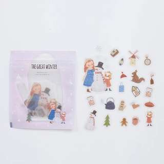 [PO] Winter theme girls sticker pack