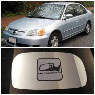 Honda Civic side mirror all models and series