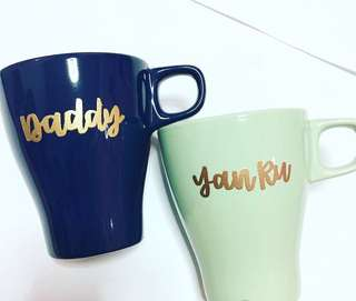 Customisable cup calligraphy anniversary Day gift gifts present presents Friend friends friend's birthday party event Wife Boyfriend Girlfriend teacher Teachers customised company graduation  Mug mugs Personalised bridesmaid cups teacher's teachers'