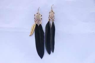Black Feathered Earrings