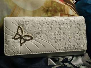 White butterfly purse