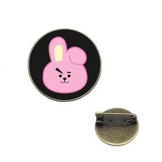 [PO]BT21 Glass Brooch Pin