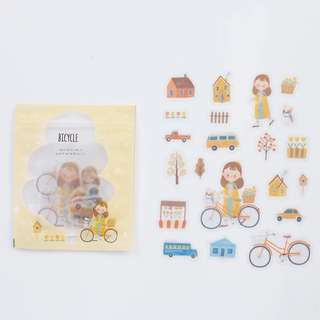[PO] Bicycle theme girls sticker pack