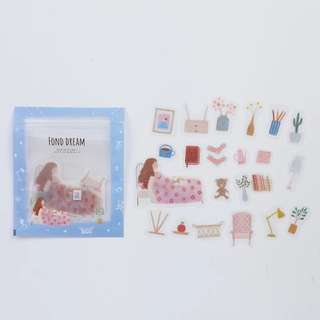 [PO] Dreaming theme girls sticker pack