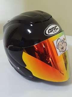 1506*** ARC RITZ Black with Gold visor Helmet For Sale 😁😁Thanks To All My Buyer Support 🐇🐇 Yamaha, Honda, Suzuki