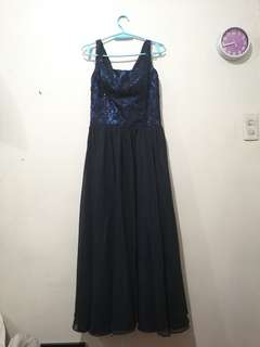 Midnight Blue Long Gown