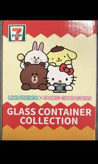 SanRio 7-11 glass container (SALLY design)